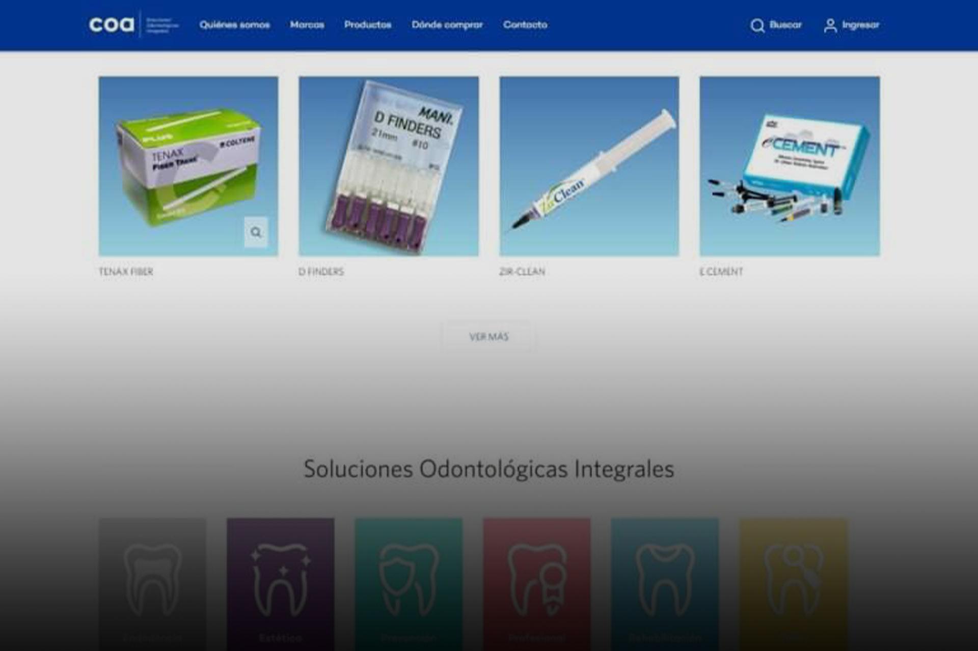 Catálogo en línea de COA